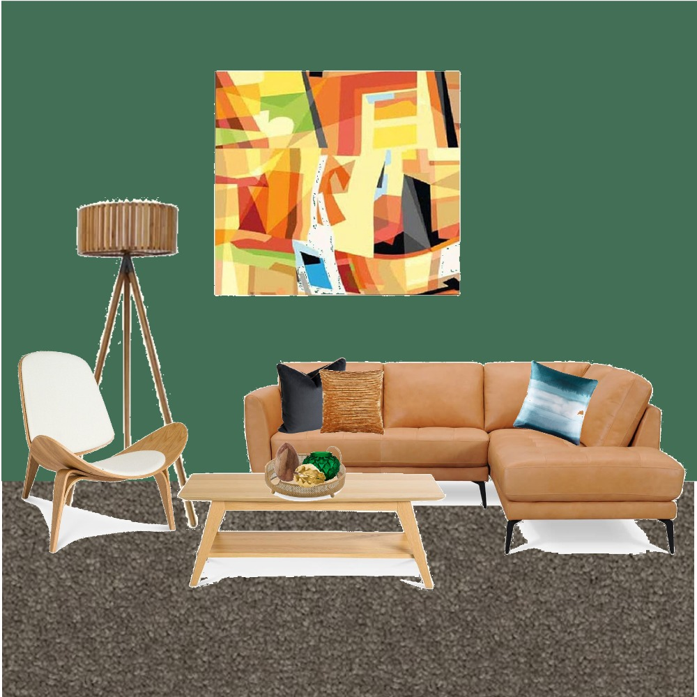 Green and Tan Living Room Mood Board by TraceyOates on Style Sourcebook