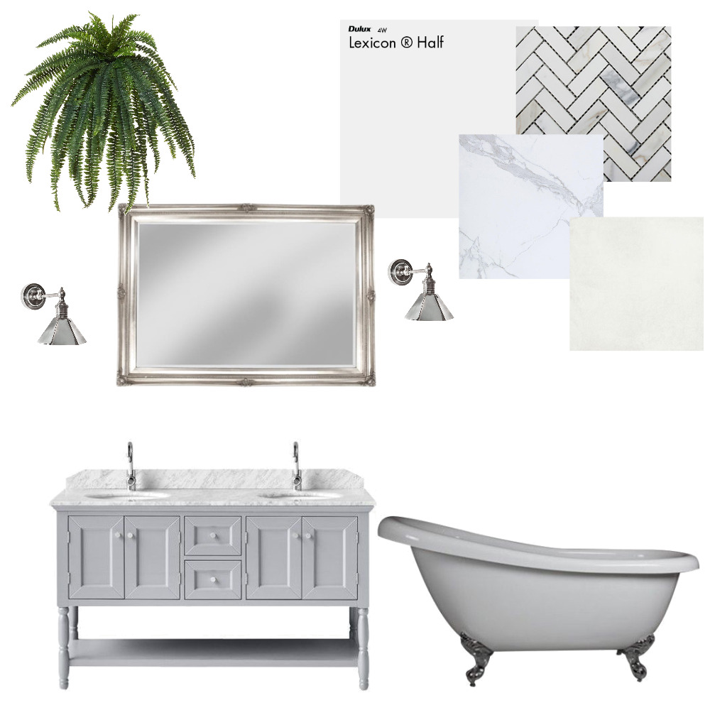 Classic Bathroom Mood Board by TheBuildersWife on Style Sourcebook
