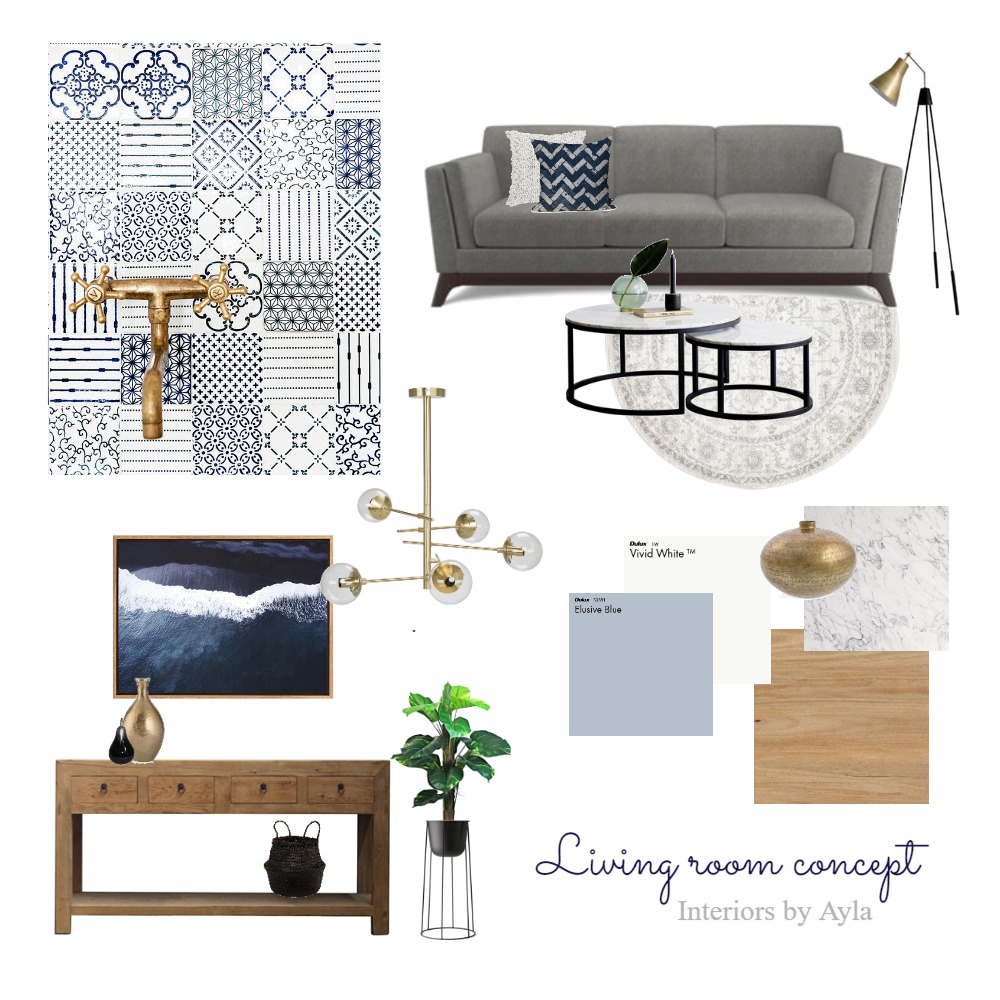 Living room Mood Board by interiorsbyayla on Style Sourcebook
