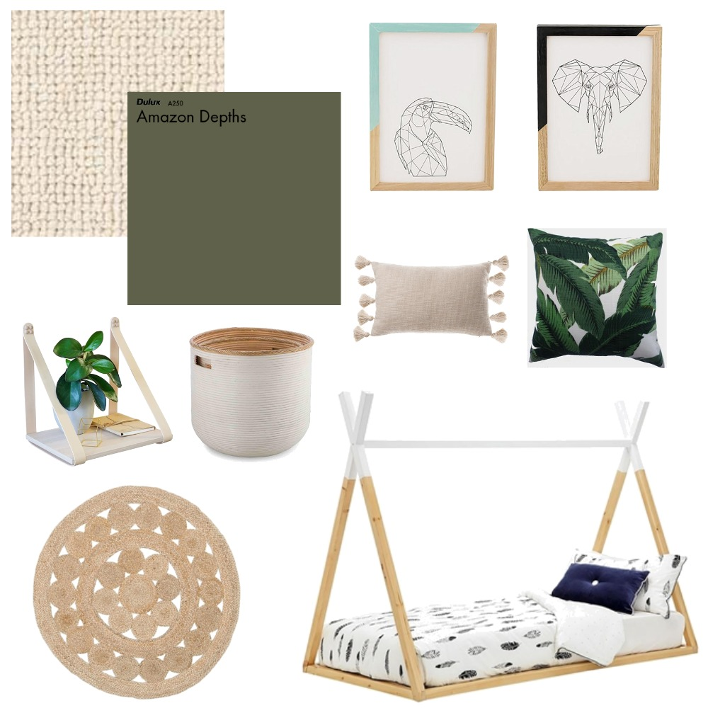 Childrens Jungle Bedroom Mood Board by interiorsbyrae on Style Sourcebook