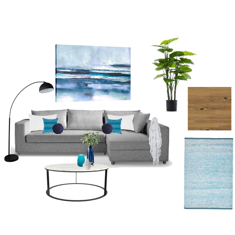 Blue/Grey Living Space Mood Board by Maz on Style Sourcebook