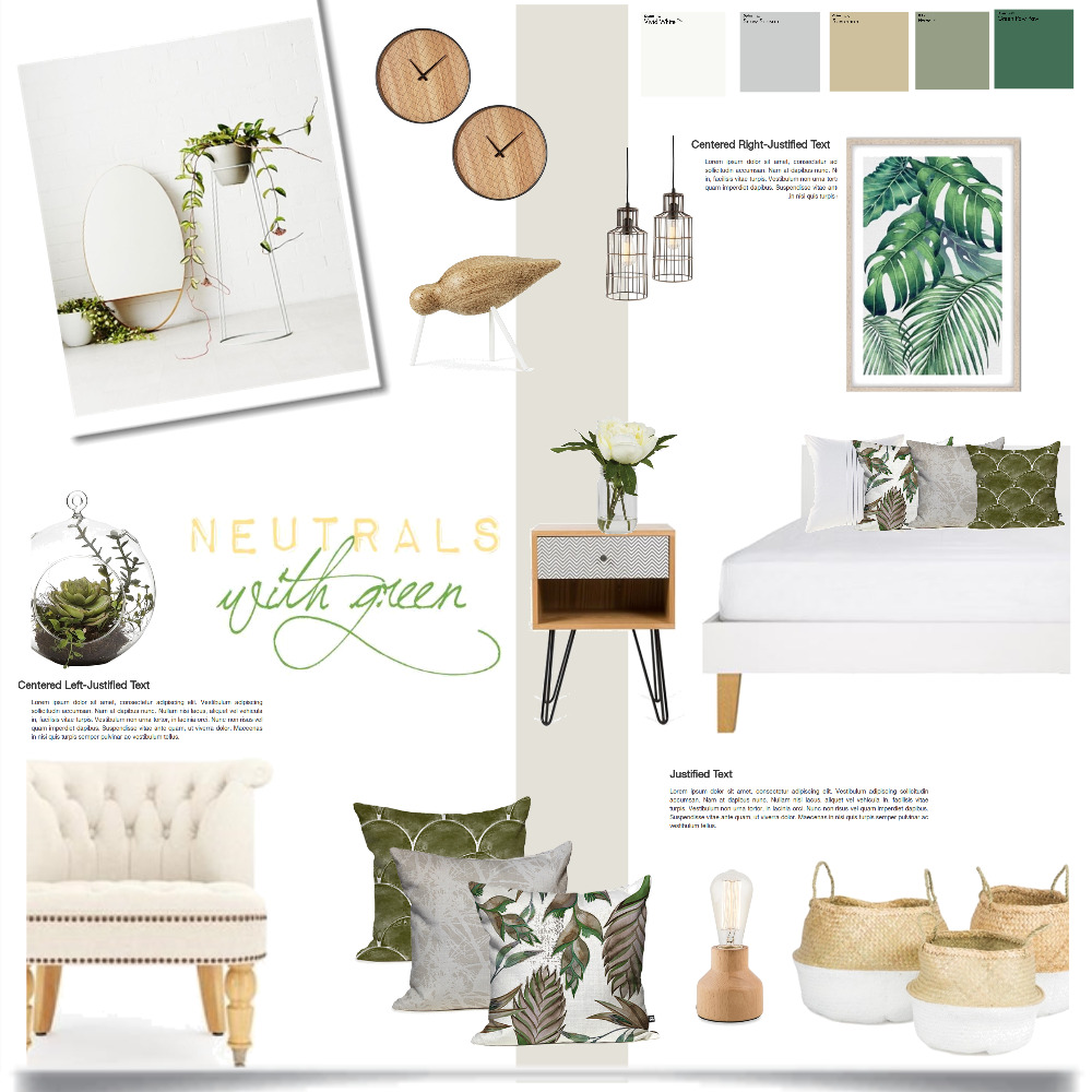 neutrals and green Interior Design Mood Board by Magdolna Levai on Style Sourcebook