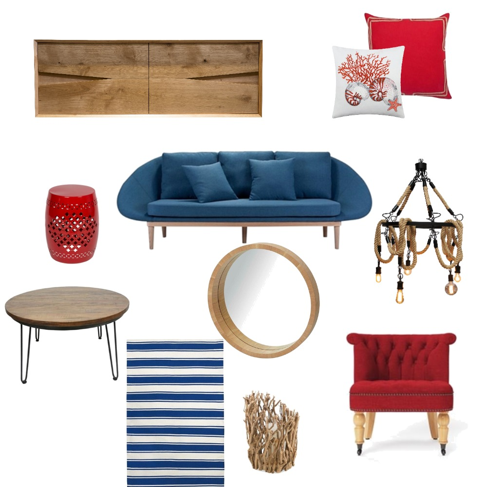 Nautical Living Room Mood Board by Meyer Studio Designs on Style Sourcebook