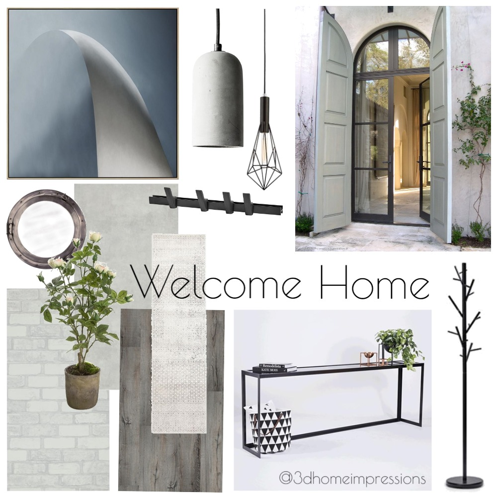 Entry Hallway Interior Design Mood Board by 3D Home Impressions on Style Sourcebook
