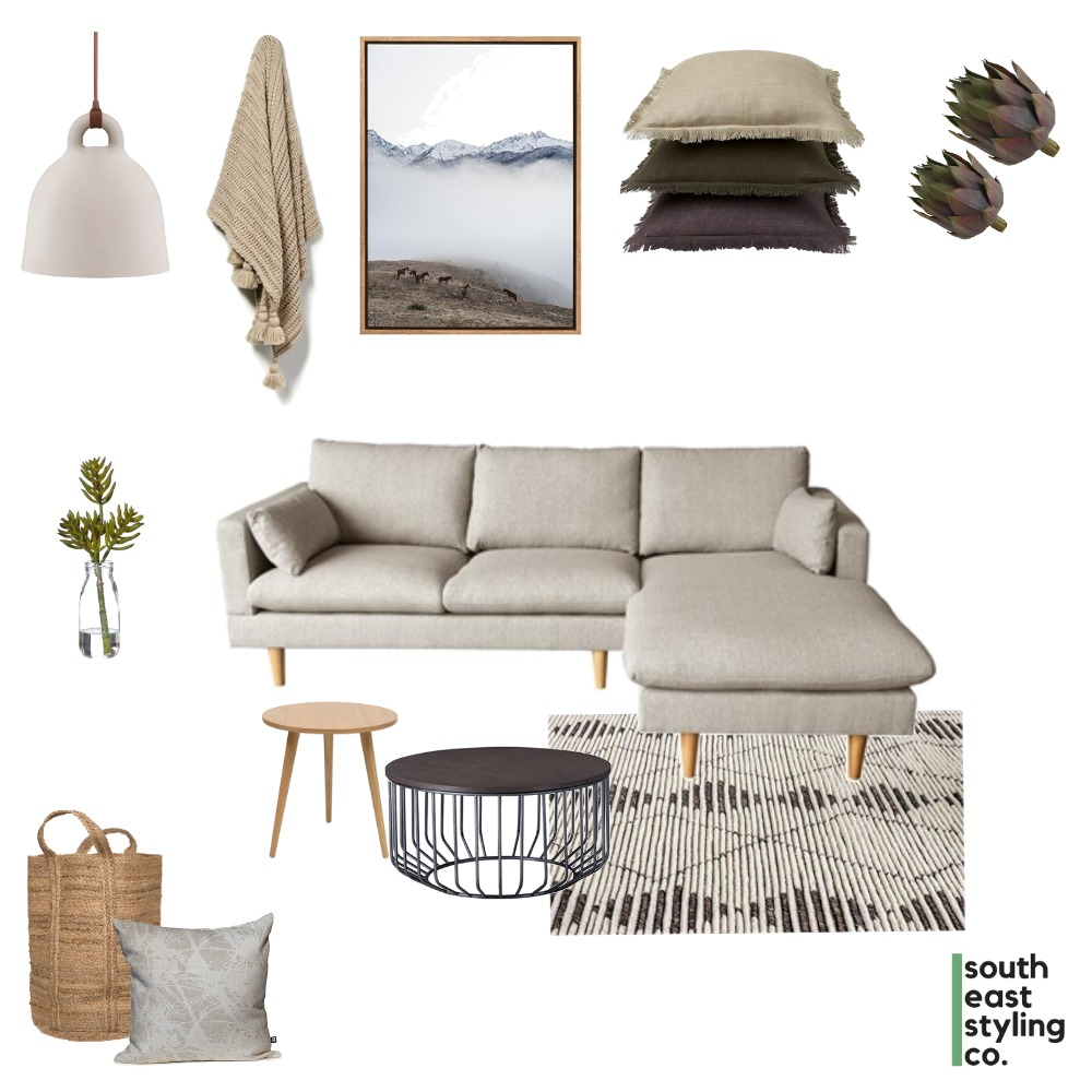 Living Mood Board by South East Styling Co.  on Style Sourcebook