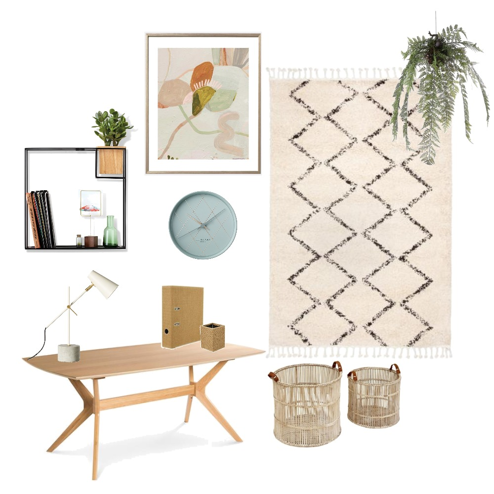 Small Home Office Mood Board by Hunter Style Collective on Style Sourcebook