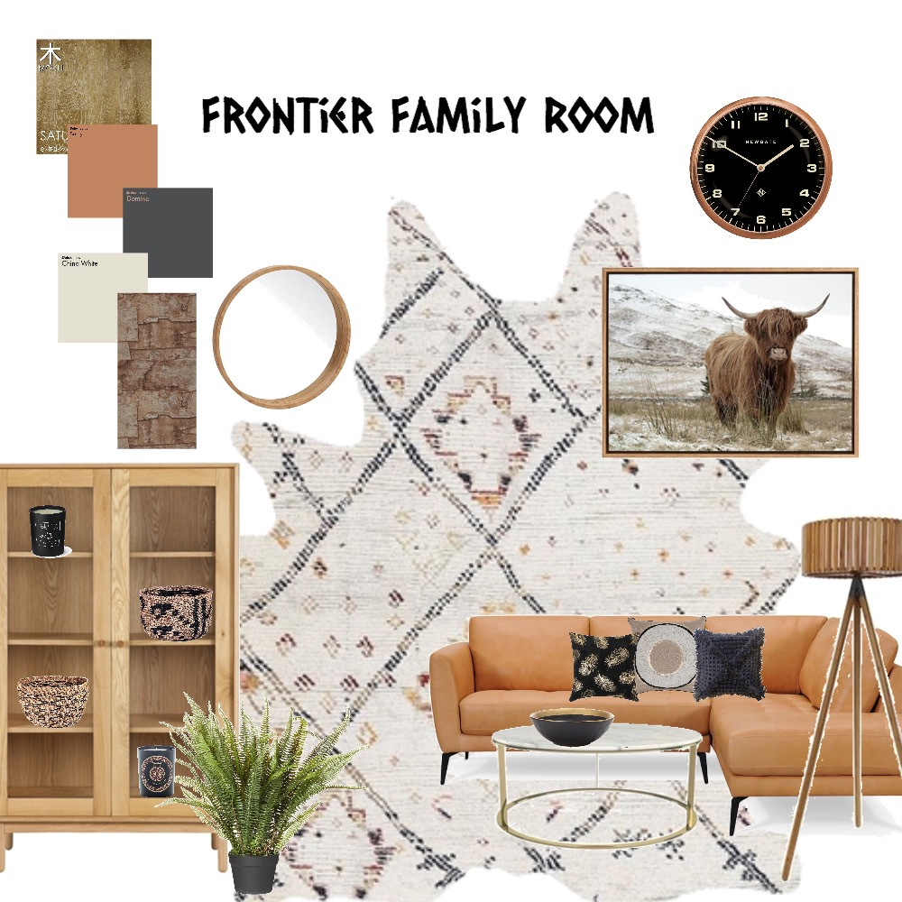 Frontier family room Mood Board by Catleyland on Style Sourcebook