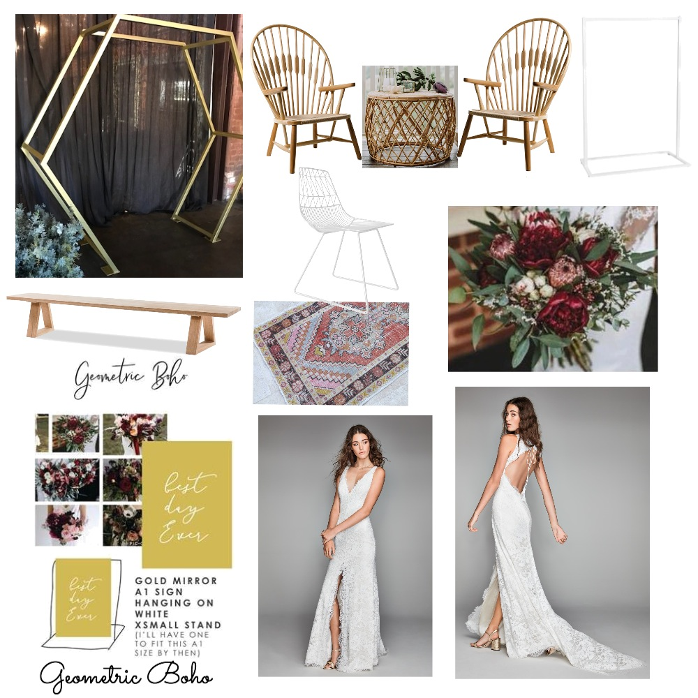 Geometric Boho Mood Board by modernlovestyleco on Style Sourcebook