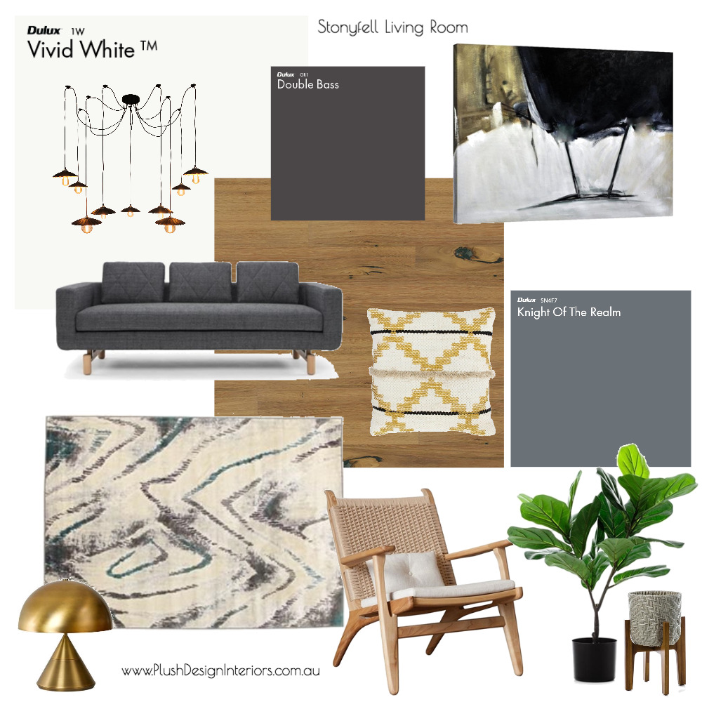 Stonyfell Living Room + Office Interior Design Mood Board by Plush Design Interiors on Style Sourcebook