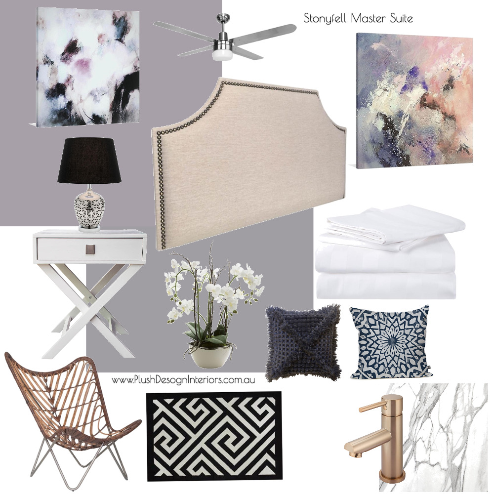 Stonyfell Master Suite Mood Board by Plush Design Interiors on Style Sourcebook