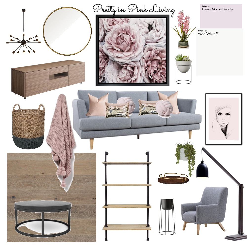 Pretty in Pink Living Mood Board by CasaDesign on Style Sourcebook