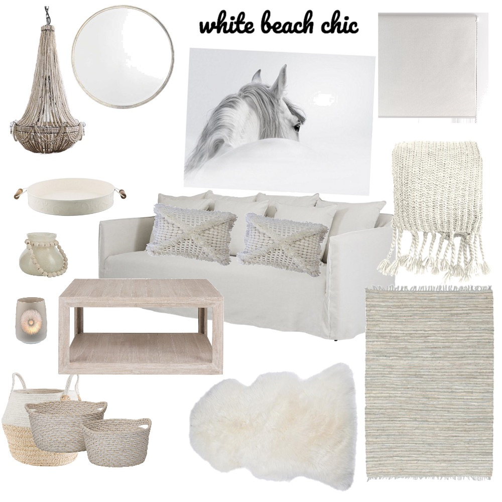 White Beach Chic Mood Board by CasaDesign on Style Sourcebook