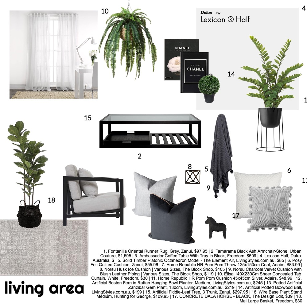 lounge Mood Board by krystalgibbs on Style Sourcebook