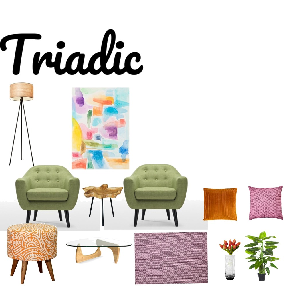 Triadic Scheme Interior Design Mood Board by wlore on Style Sourcebook