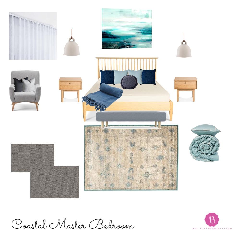 Coastal Master Bedroom Mood Board by Bel Interior Styling on Style Sourcebook