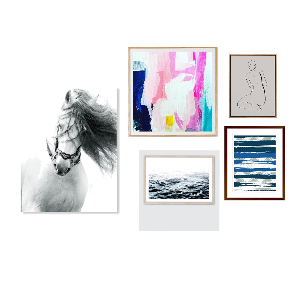 Living Gallery Wall Mood Board by bheitman on Style Sourcebook