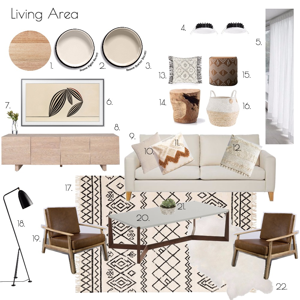 Living Area Mood Board by ChampagneAndCoconuts on Style Sourcebook