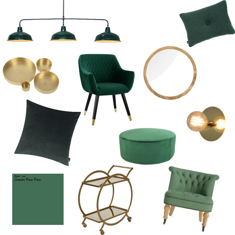 Luxe Gold & Green Mood Board by spiceandoak on Style Sourcebook
