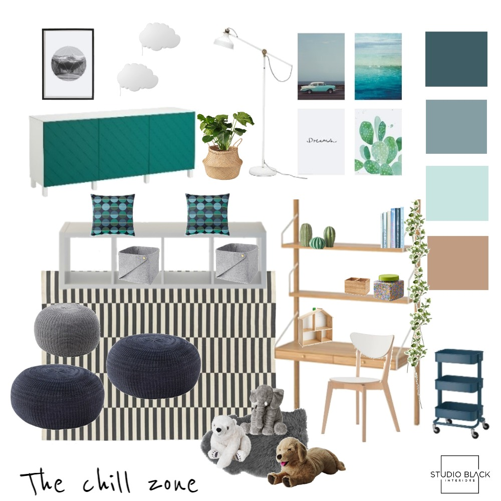 The Chill Zone Mood Board by Studio Black Interiors on Style Sourcebook