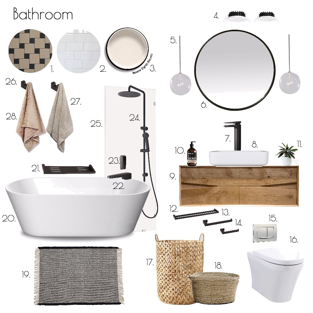 Bathroom Mood Board by ChampagneAndCoconuts on Style Sourcebook