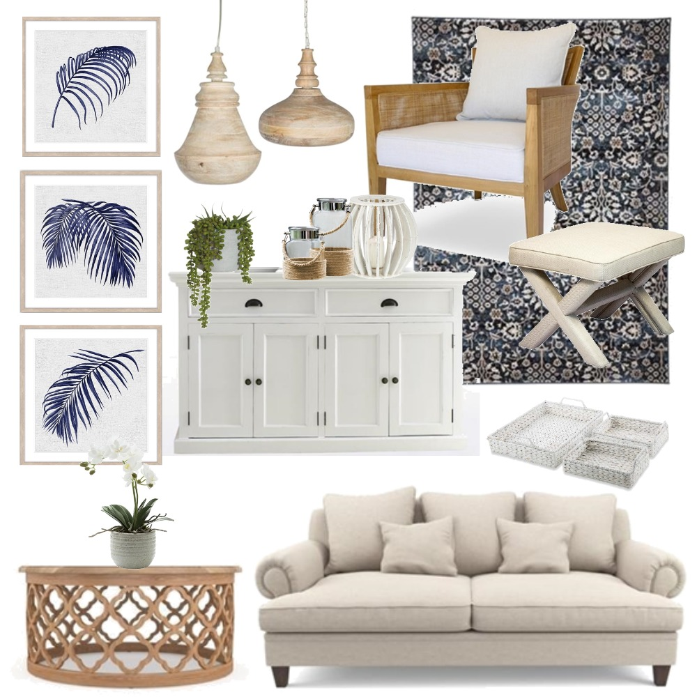 Hamptons Interior Design Mood Board by Thediydecorator on Style Sourcebook