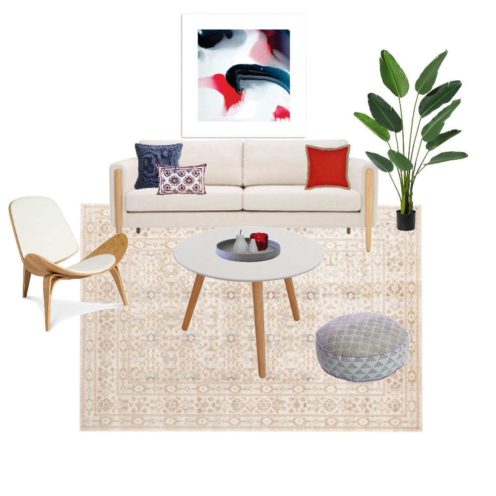 Red living room Mood Board by amandanairn on Style Sourcebook