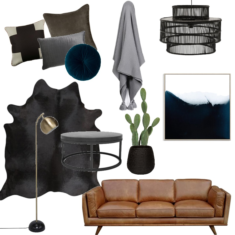 Moody Dramatic Lounge Mood Board by spiceandoak on Style Sourcebook