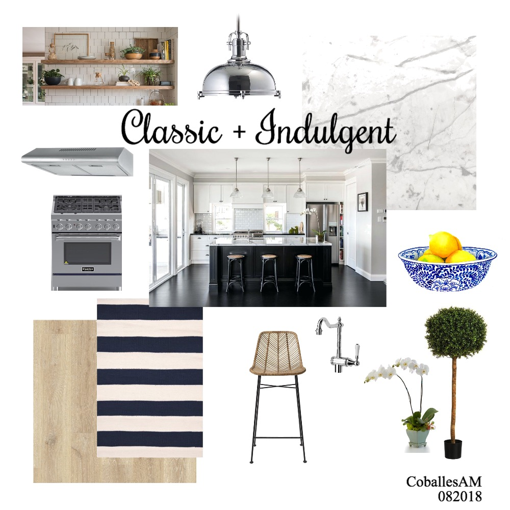 Classic White Kitchen Interior Design Mood Board by anncoballes on Style Sourcebook