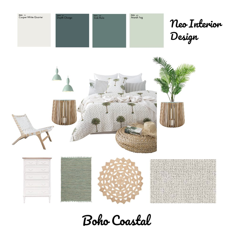 Boho Coastal Mood Board by Neo Interior Design Perth on Style Sourcebook