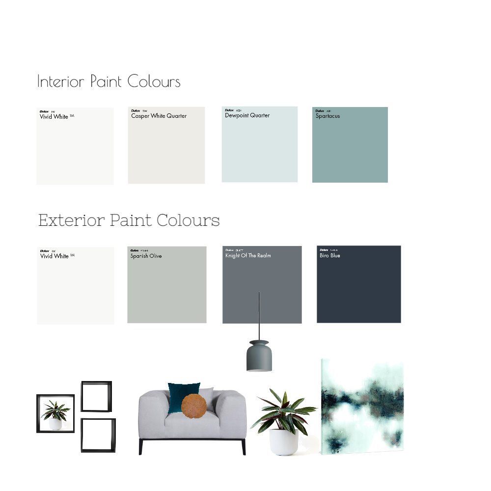 Paint Colour Mood Board Mood Board by Neo Interior Design Perth on Style Sourcebook