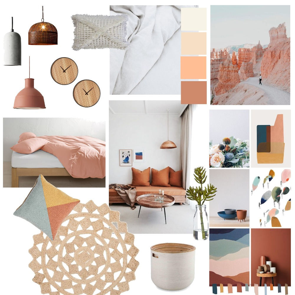 NEW Colour Rust + Apricot (wip) Mood Board by thebohemianstylist on Style Sourcebook