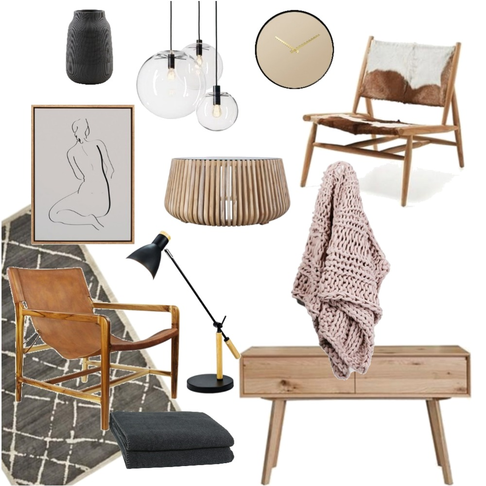 Boho Chic Living Mood Board by spiceandoak on Style Sourcebook