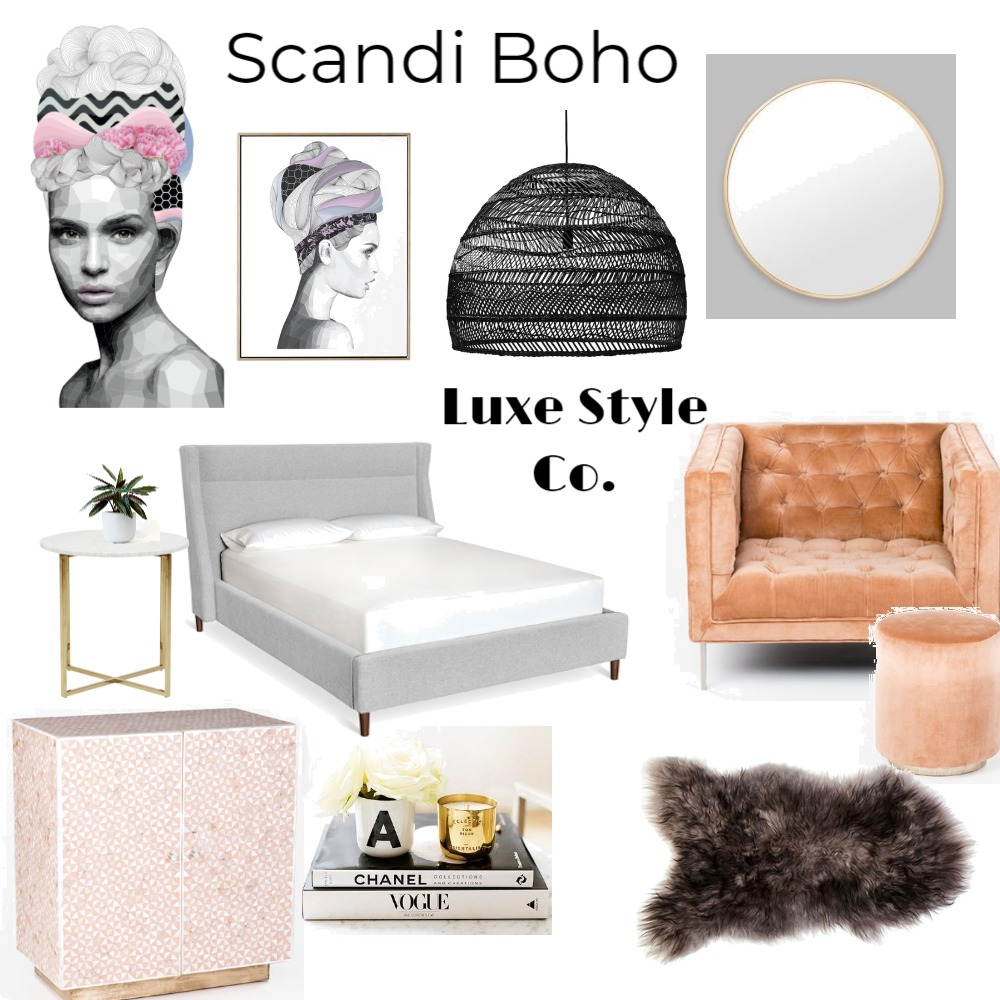 Scandi Boho Mood Board by Luxe Style Co. on Style Sourcebook