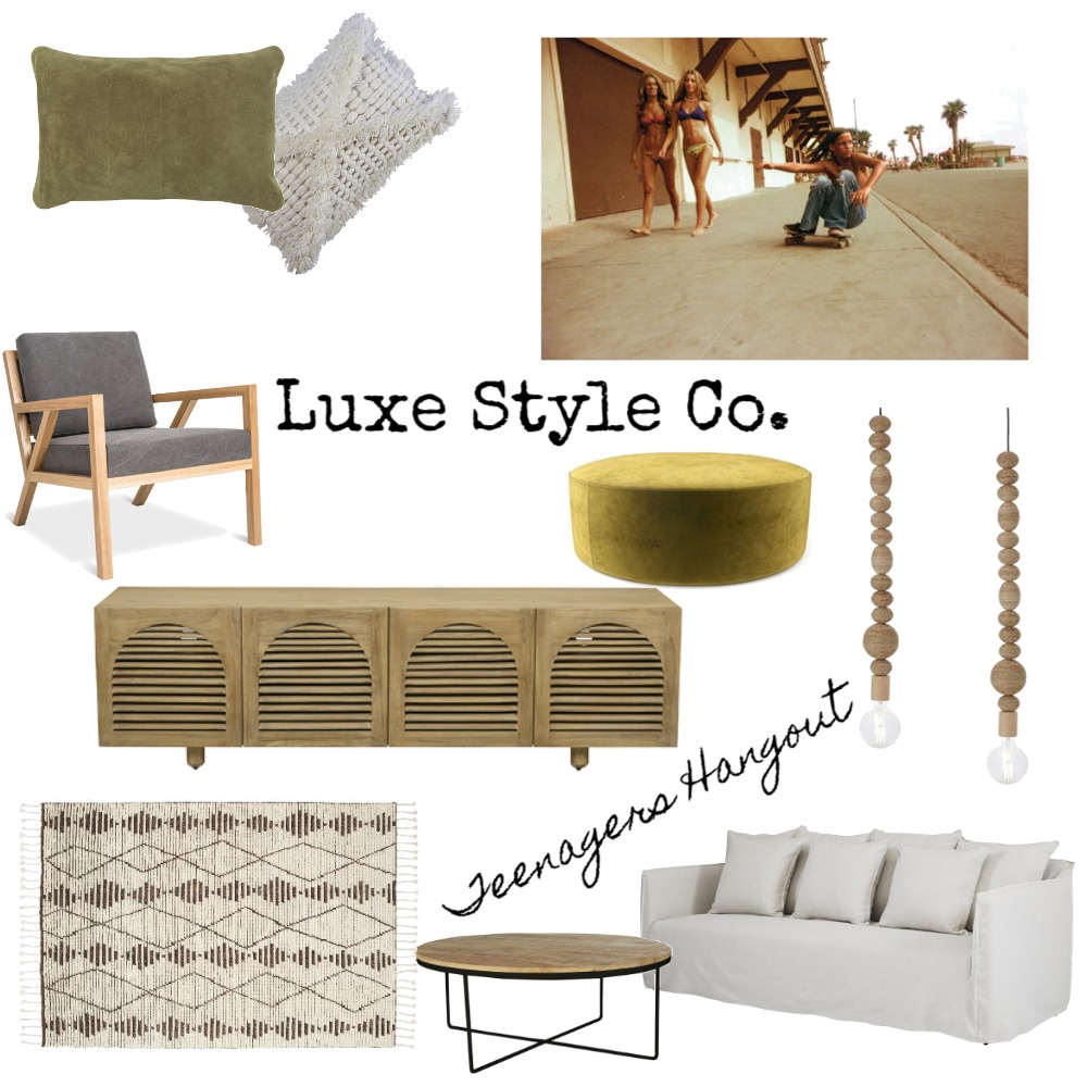 Teenagers Hangout Mood Board by Luxe Style Co. on Style Sourcebook