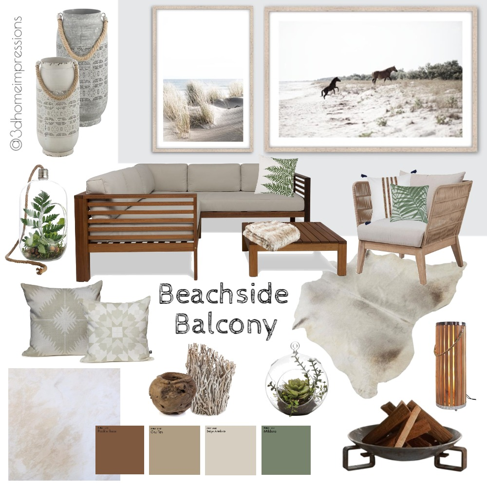 Beachside Balcony Mood Board by 3D Home Impressions on Style Sourcebook