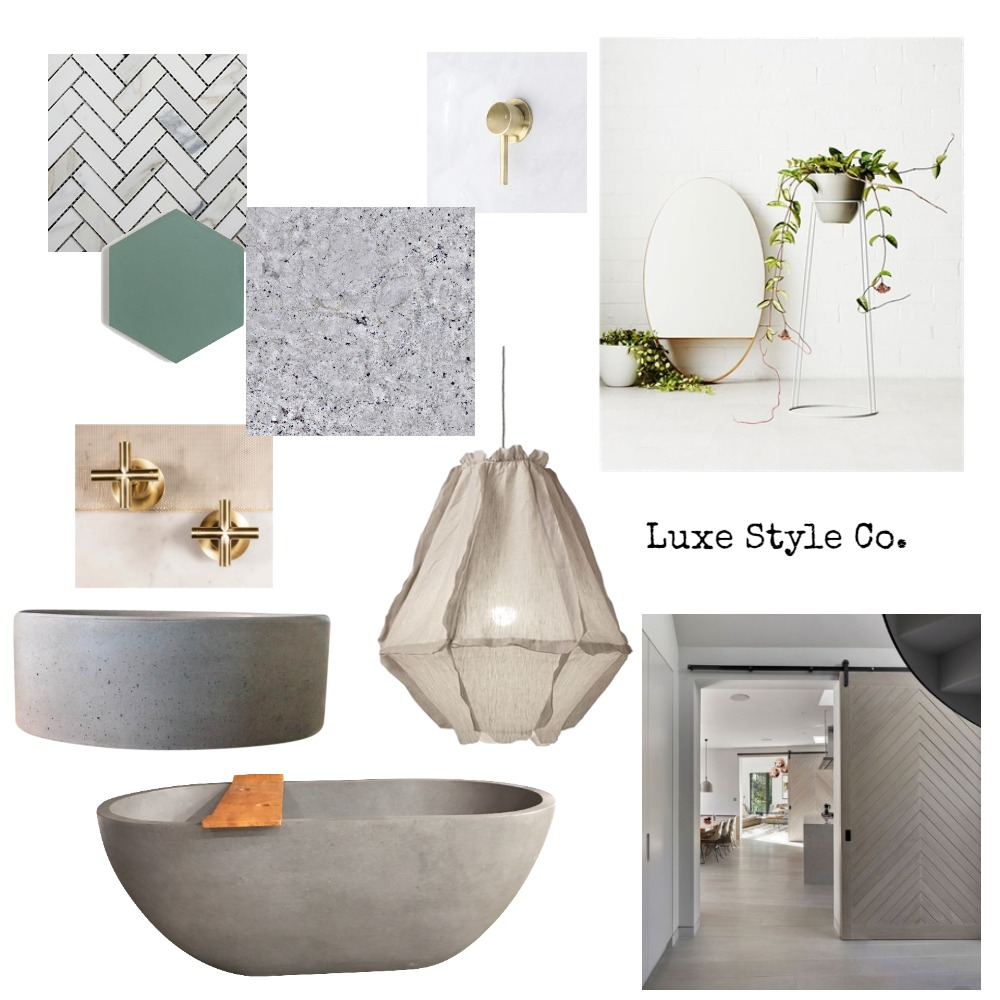 Nordic Bathroom Interior Design Mood Board by Luxe Style Co. on Style Sourcebook