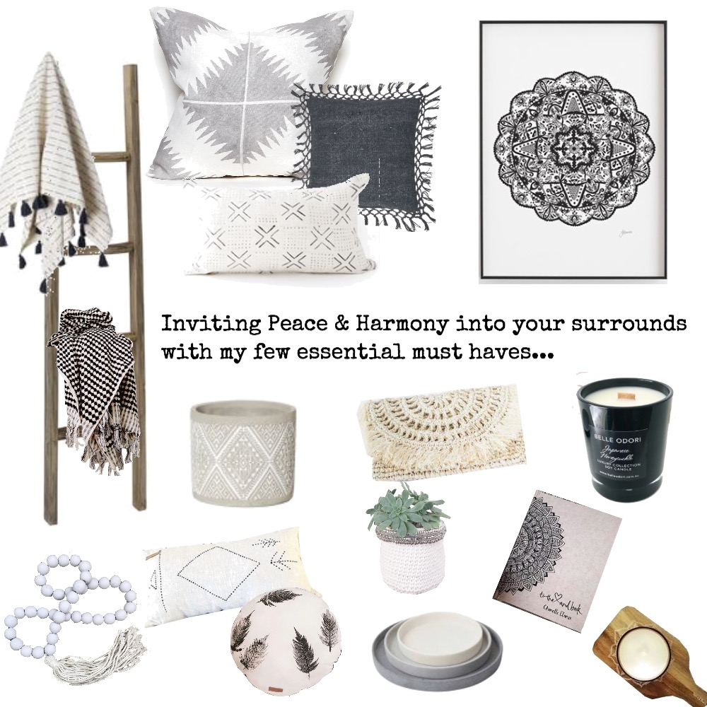 Peace & Harmony Mood Board by Seascape Living on Style Sourcebook