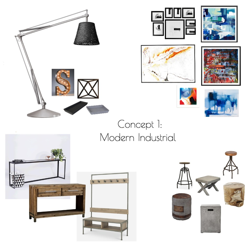Concept 1: Modern Industrial Mood Board by Jess_Sabharwal on Style Sourcebook