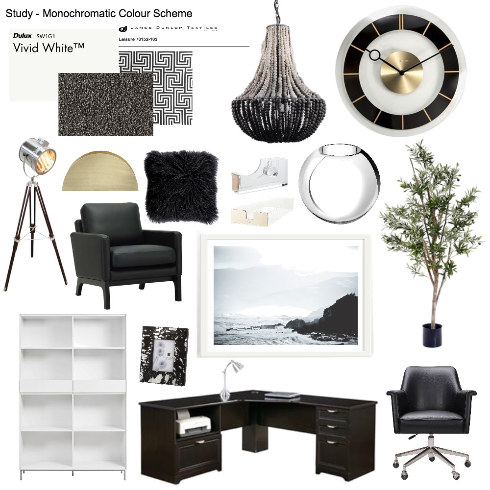 Study - Monochromatic Mood Board by mianardone on Style Sourcebook