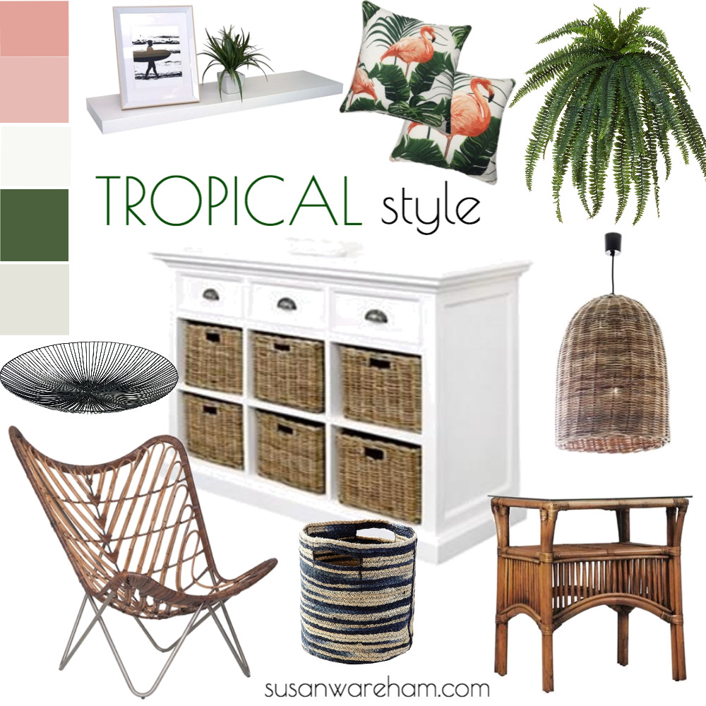 Tropical style Interior Design Mood Board by www.susanwareham.com on Style Sourcebook