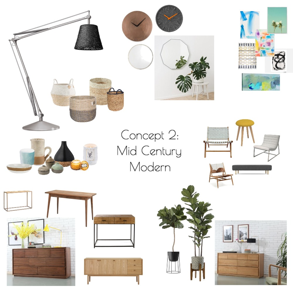 Concept 2: Mid Century Modern Mood Board by Jess_Sabharwal on Style Sourcebook