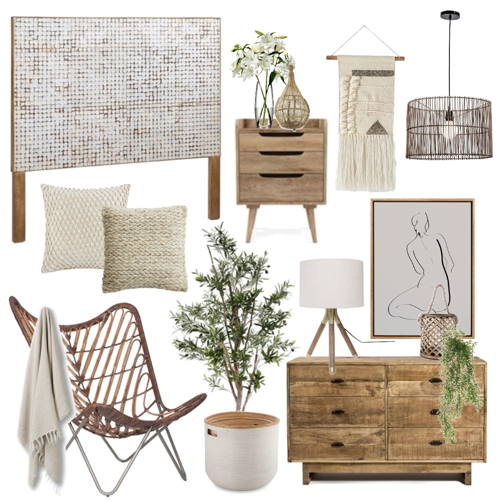 Natural Boho Interior Design Mood Board by Thediydecorator on Style Sourcebook