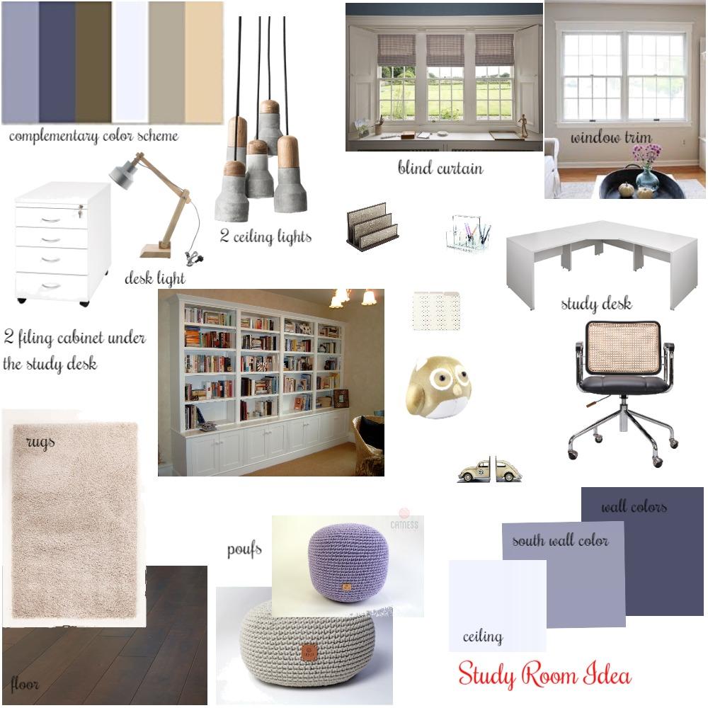 Study Room Mood Board Interior Design Mood Board by Artemisaz on Style Sourcebook