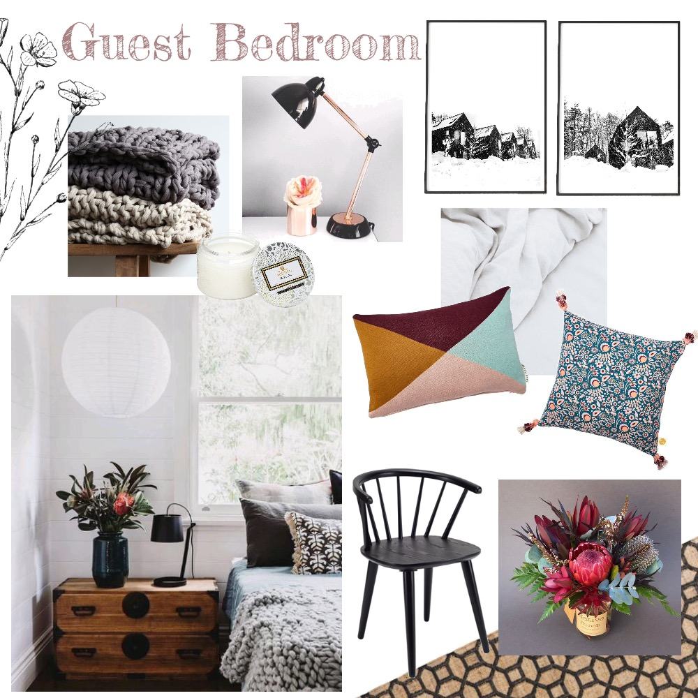 Guest Bedroom Mood Board by thebohemianstylist on Style Sourcebook