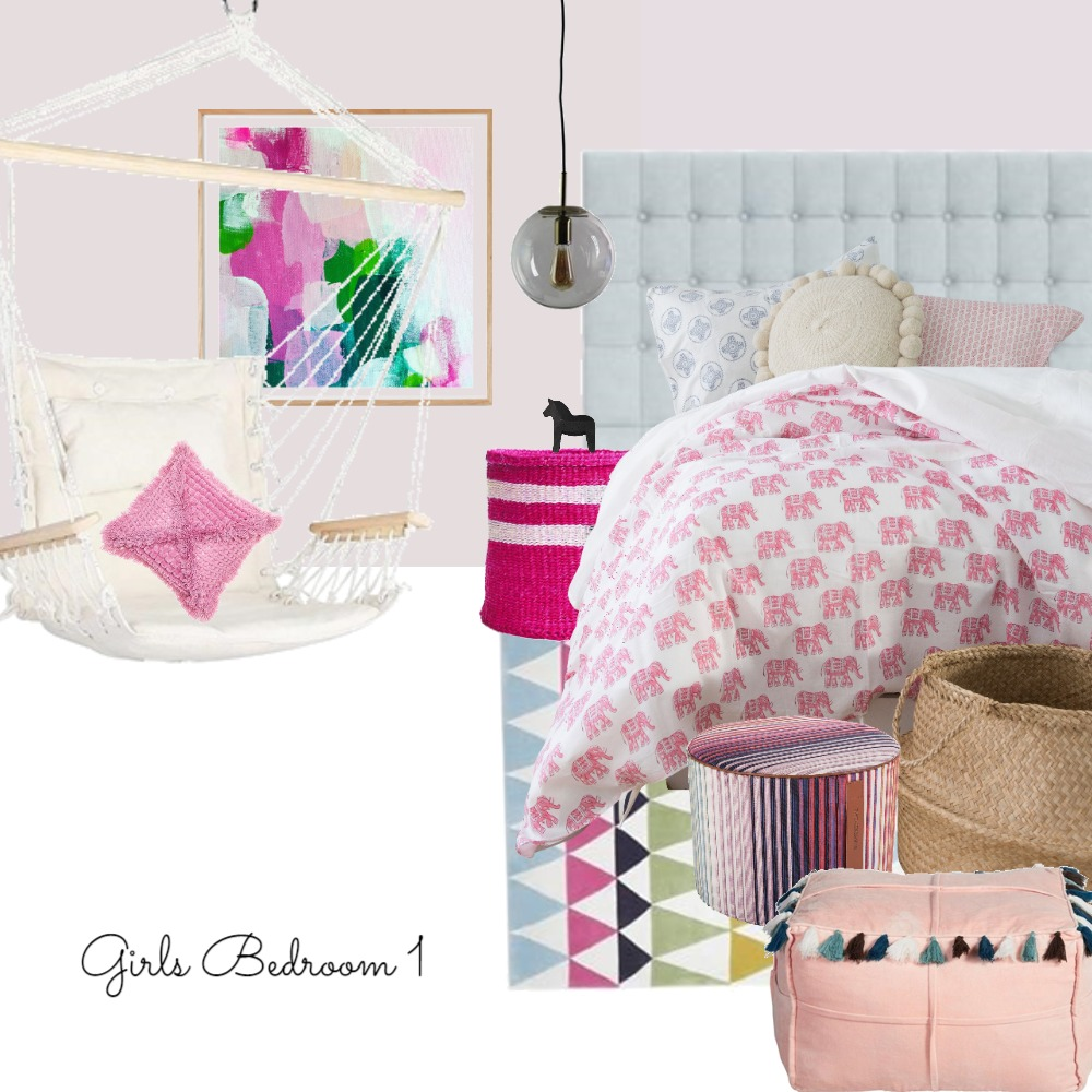 Girls Bedroom 1 Interior Design Mood Board by CourtneyDedekind on Style Sourcebook