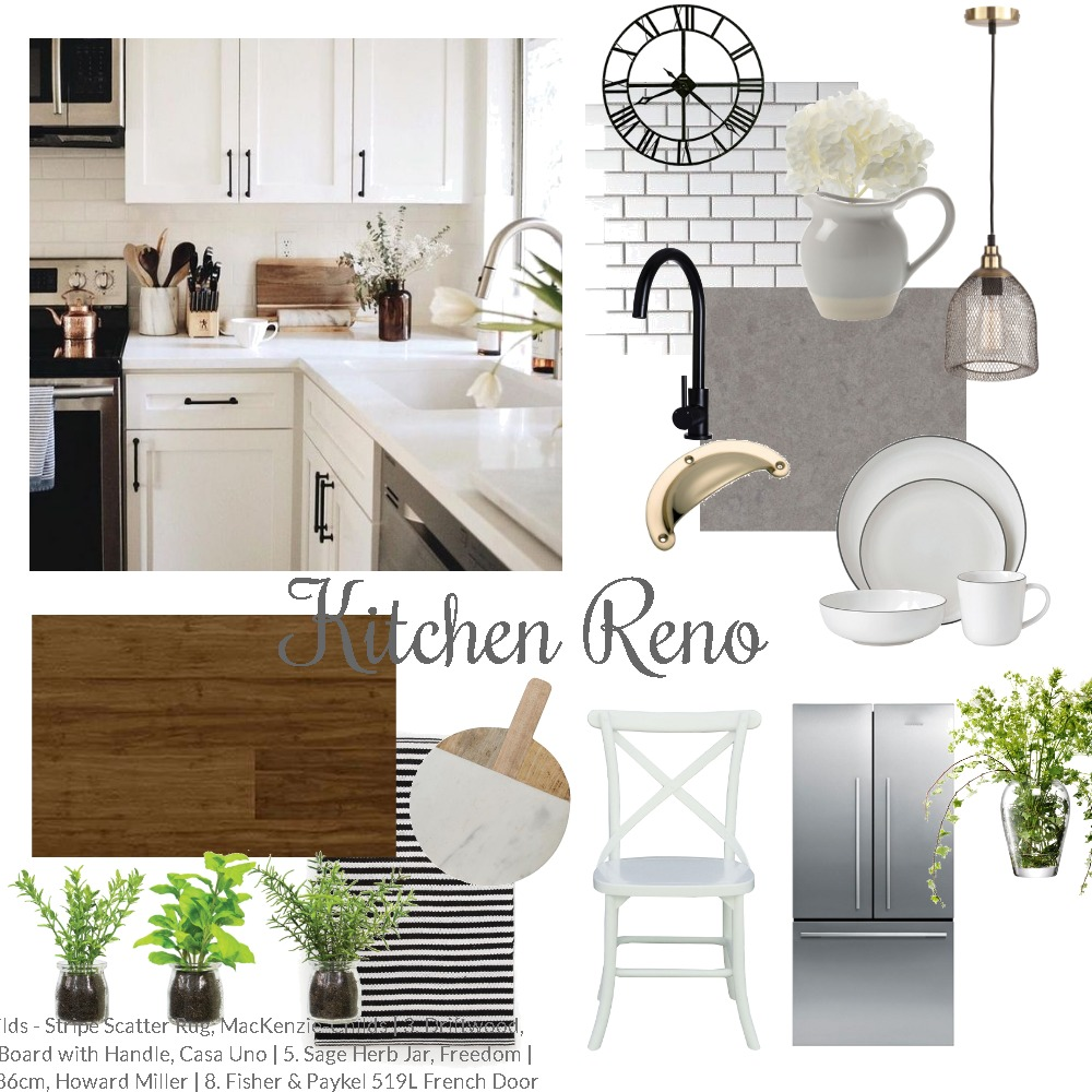 Project: Mum and Dad's Kitchen Reno Mood Board by thebohemianstylist on Style Sourcebook
