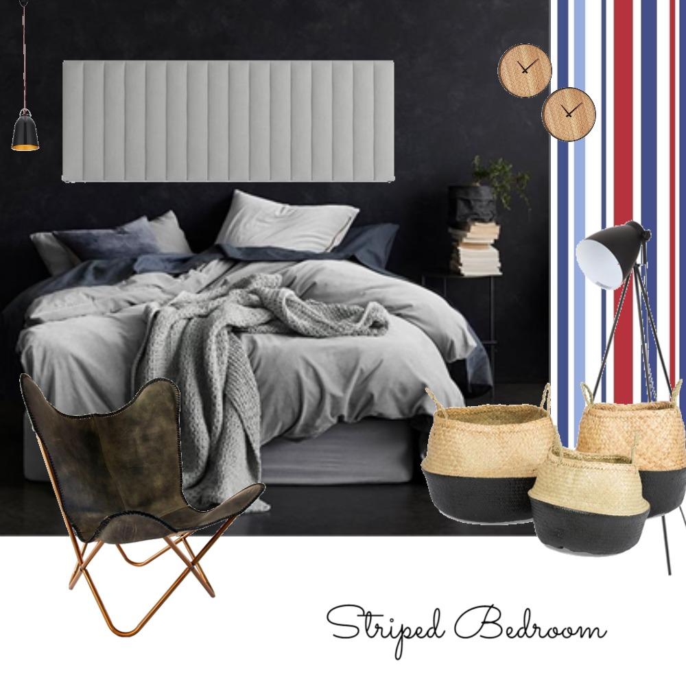 striped bedroom Mood Board by CourtneyDedekind on Style Sourcebook