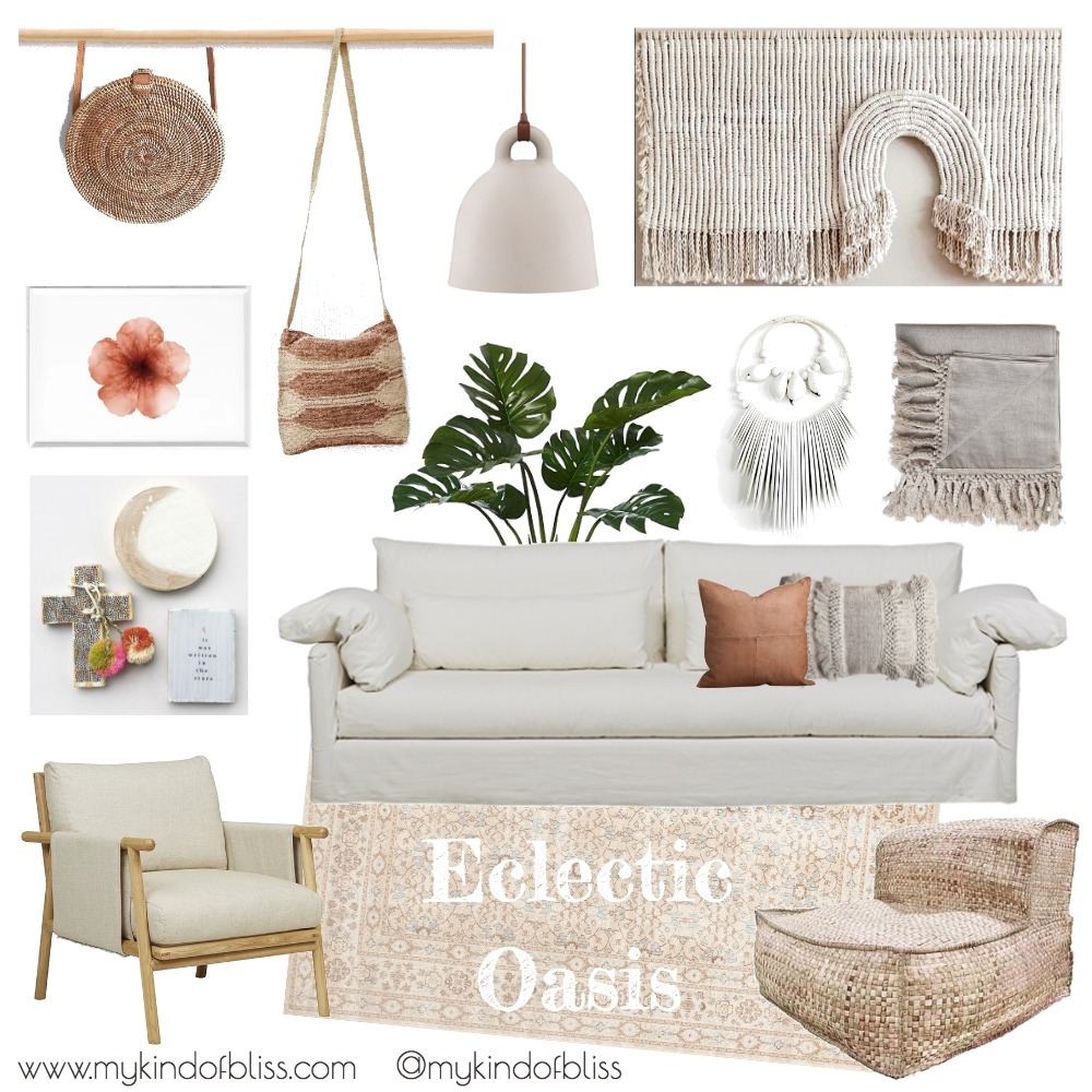 Eclectic Oasis Mood Board by My Kind Of Bliss on Style Sourcebook
