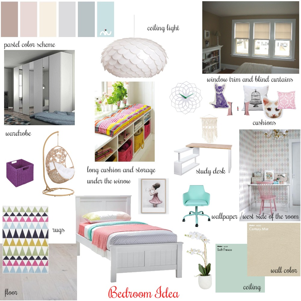 Kids Bedroom Idea Interior Design Mood Board by Artemisaz on Style Sourcebook