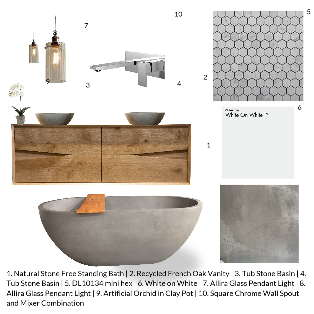 Ensuite Gormanns Mood Board by AM Interior Design on Style Sourcebook